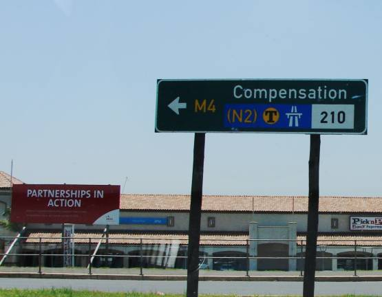 Signboard-showing--compensation-sign