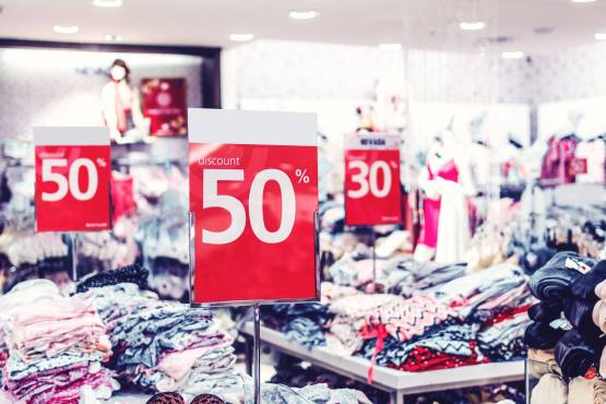 Shop-with-discount-signs