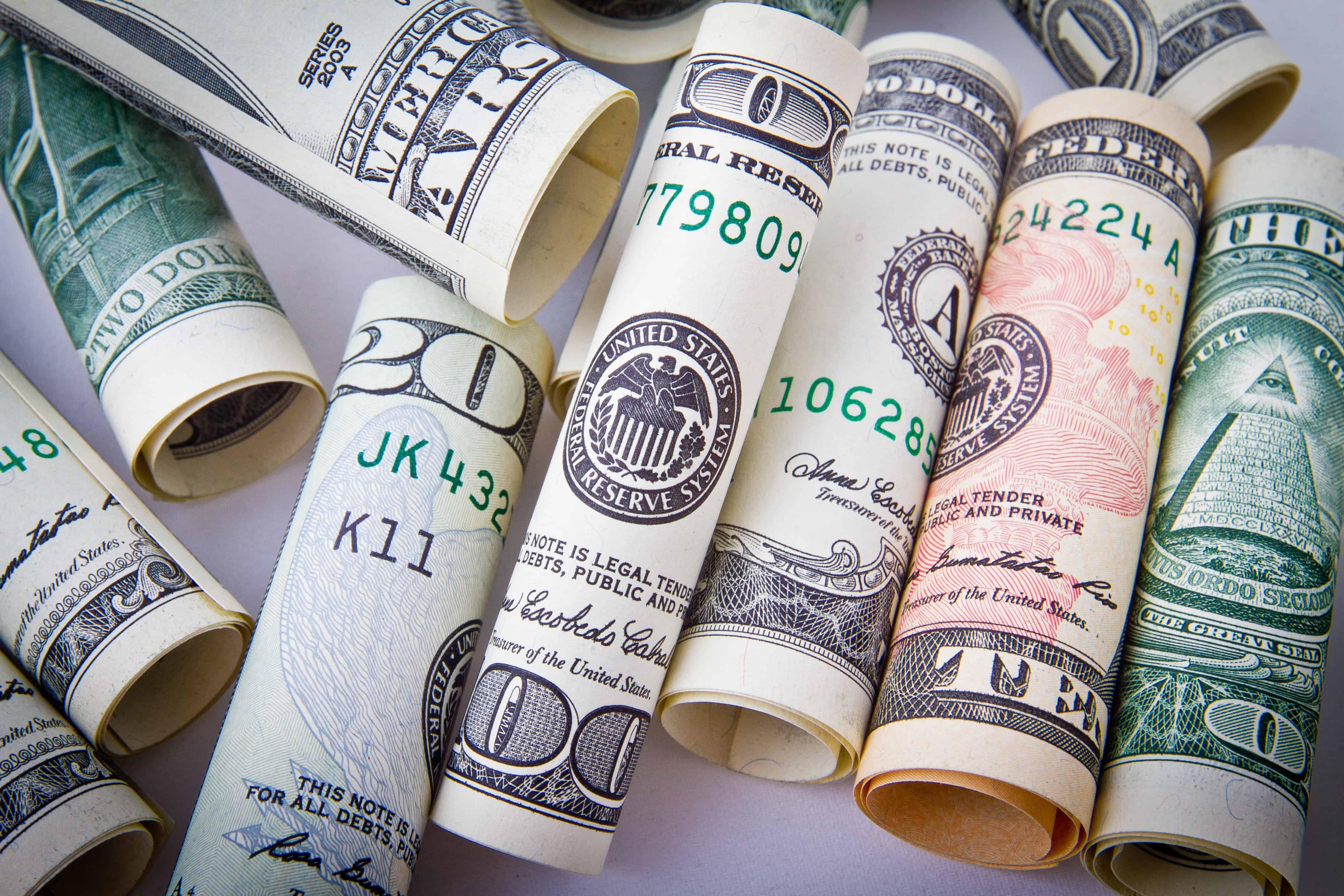 rolled-20-u-s-dollar-bill