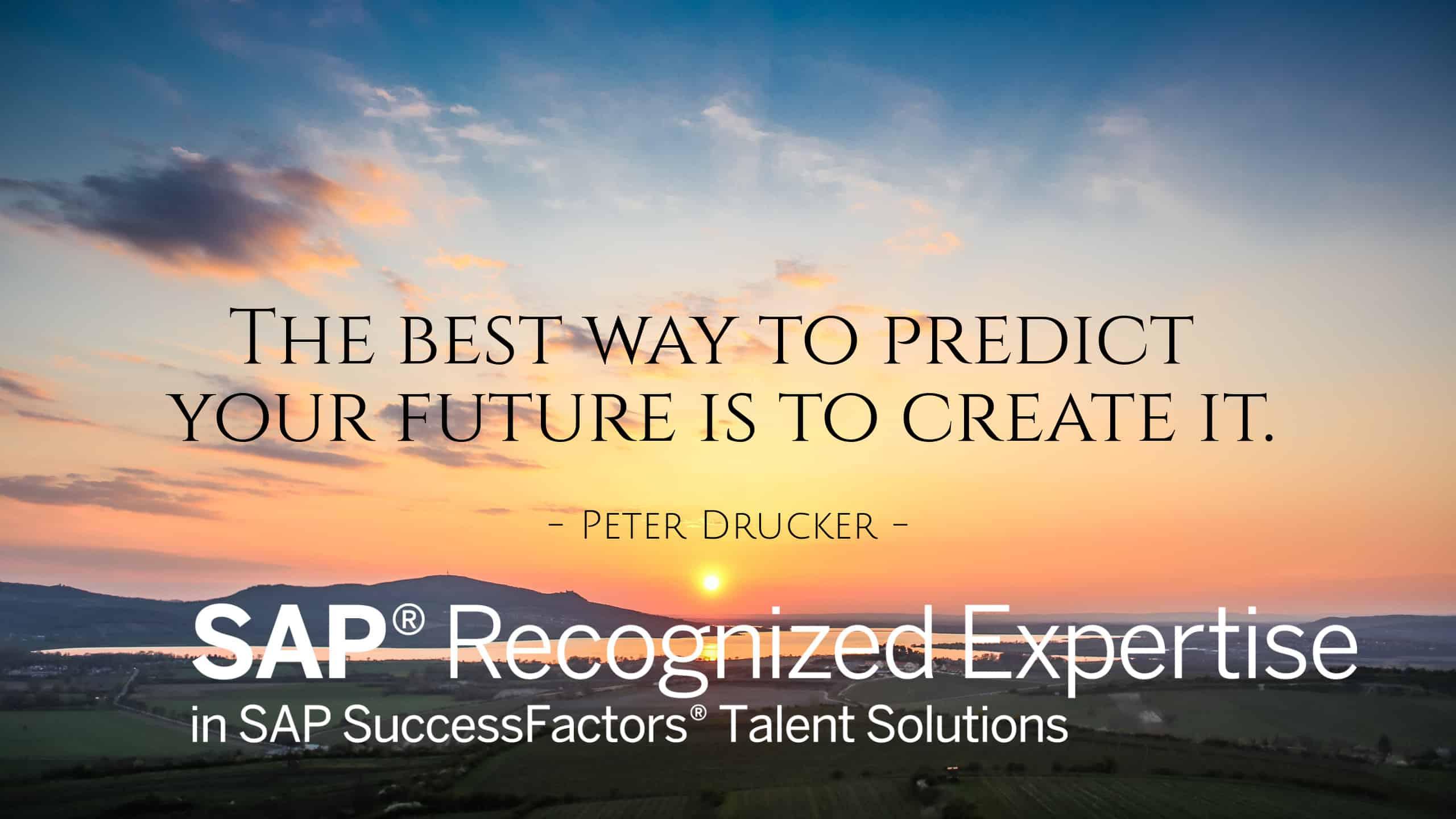 Sunset- Peter Druker Quote-SAP Recognized Expertise logo